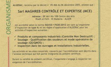 Accréditation ALGERAC